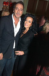 NANCY DELL'OLIO and SIMON ASTAIRE at a party to celebrate the publication of Style by interior designer Kelly Hoppen held at 50 Cheyne Walk, London on 10th November 2004.<br /><br />NON EXCLUSIVE - WORLD RIGHTS
