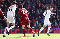 -Burnley's Johann Gudmundsson (right) celebrates scoring his side's second goal of the game