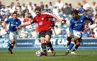 Photo: Tony Oudot.<br /> Millwall v Bristol City. Coca Cola League 1. 28/04/2007.<br /> David Noble of Bristol City beats Richard Shaw of Millwall to the ball