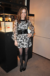 TARA PALMER-TOMKINSON at a party to celebrate the launch of Simon Sebag-Montefiore's new book - 'Jerusalem: The Biography' held at Asprey, 167 New Bond Street, London on 26th January 2011.