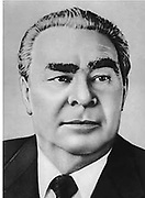 Leonid Ilyich Brezhnev in 1980. (1906 – 10 November 1982). Soviet  Russian statesman during the Cold War. Soviet politician. Secretary of the Central Committee (CC) of the Communist Party of the Soviet Union (CPSU), presiding over the country from 1964 until his death in 1982.