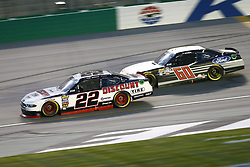 July 13, 2018 - Sparta, Kentucky, United States of America - Paul Menard (22) and Ty Majeski (60) battle for position during the Alsco 300 at Kentucky Speedway in Sparta, Kentucky. (Credit Image: © Chris Owens Asp Inc/ASP via ZUMA Wire)