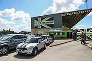 General view of the East stand during the EFL Sky Bet League 2 match between Forest Green Rovers and Exeter City at the New Lawn, Forest Green, United Kingdom on 4 May 2019.