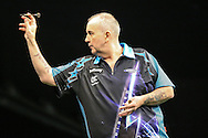 Phil Taylor during the Betway Premier League Darts Play-Offs at the O2 Arena, London, United Kingdom on 19 May 2016. Photo by Shane Healey.