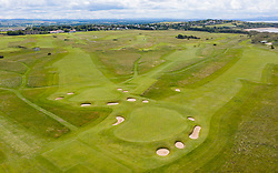 Aerial view of Muirfield Golf Course in Gullane, East Lothian,  Scotland, UK