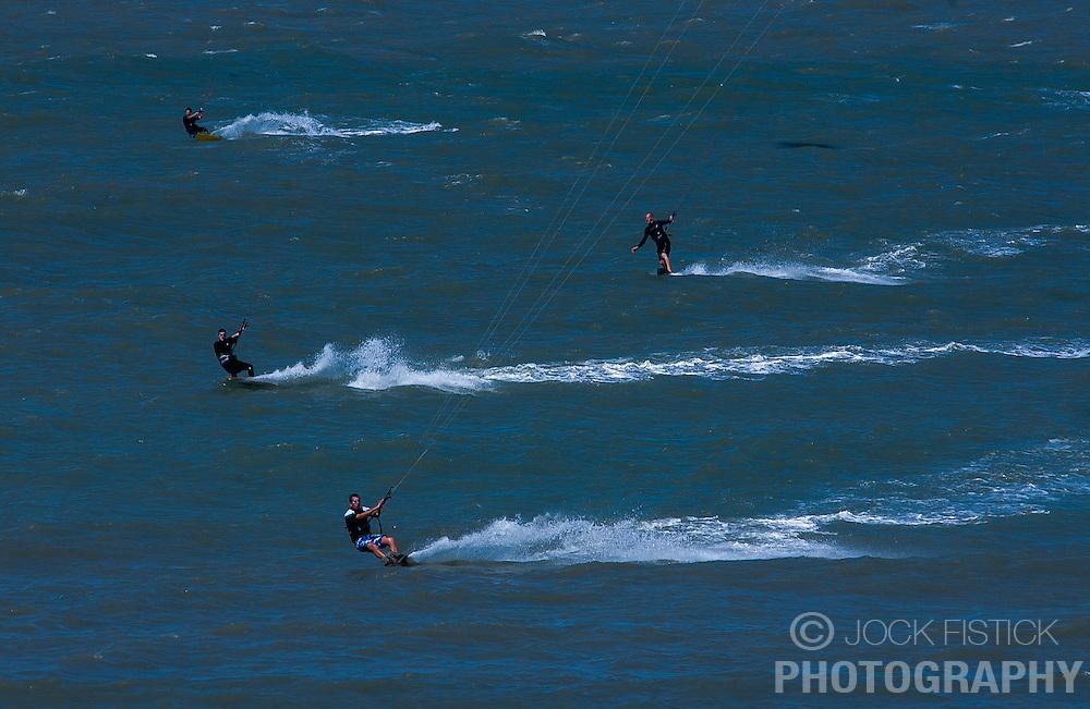Kitesurfing on the North Sea. (Photo © Jock Fistick)
