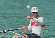 Lucerne, Switzerland. 1995 FISA WC III, Lake Rottsee, Lucerne,<br /> GER M1X Thomas LANGE.<br /> [Mandatory Credit. Peter SPURRIER/Intersport Images]<br /> <br /> Image scanned from Colour Negative