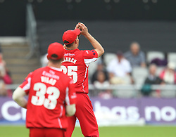 Ryan McLaren of Lancashire Lightning catches out Cameron Steel of Durham Jets (Not Pictured) - Mandatory by-line: Jack Phillips/JMP - 23/07/2017 - CRICKET - Emirates Old Trafford - Manchester, United Kingdom - Lancashire Lightning v Durham Jets - Natwest T20 Blast