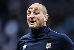 England forwards coach Steve Borthwick during the pre match warm up<br /> <br /> Photographer Craig Thomas/Replay Images<br /> <br /> Quilter International - England v Italy - Friday 6th September 2019 - St James' Park - Newcastle<br /> <br /> World Copyright © Replay Images . All rights reserved. info@replayimages.co.uk - http://replayimages.co.uk