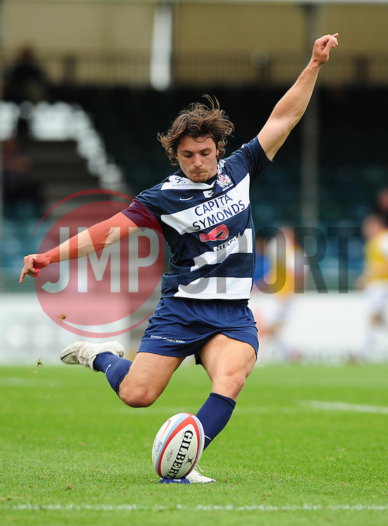 Bristol's Tristan Roberts Scores a penalty - Photo mandatory by-line: Josephmeredith.com  - Tel: Mobile:07966 386802 02/09/2012 - SPORT - RUGBY - Memorial Stadium - Bristol. Bristol Rugby v Newcastle Falcons