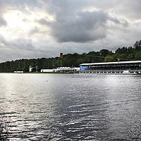 Nederland, Amstelveen , 16 augustus 2014.<br /> Het podium voor de World Rowing Championships 24-31 augustus aan de Bosbaan staat al klaar.<br /> Foto:Jean-Pierre Jans