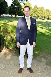 LORD FREDERICK WINDSOR at the Frost Family Summer party in support of the British Heart Foundation and the Mile Frost Fund held at Burton Court, Chelsea, London  on 18th July 2016.