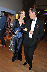 LADY VICTORIA GETTY and DR DESMOND BIDDULPH at the annual Chain of Hope's annual Gala Ball held at the Natural History Museum, London on 8th November 2012.
