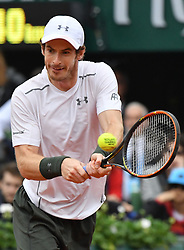 File photo - FRANCE, Paris : Britain's Andy Murray returns the ball to Serbia's Novak Djokovic during their men's final match at the Roland Garros 2016 French Tennis Open in Paris on June 5, 2016. Andy Murray shocked the tennis world Friday morning in Melbourne when he announced his plans to retire this year during a tearful press conference ahead of the Australian Open. The former world No. 1 had hip surgery in January 2017 and says the pain has become too much to bear. Photo by Christian Liewig/ABACAPRESS.COM