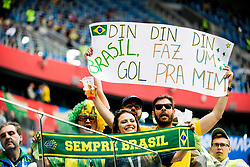 June 22, 2018 - Sankt Petersburg, Russia - 180622 Fans of Brazil ahead of the FIFA World Cup group stage match between Brazil and Costa Rica on June 22, 2018 in Sankt Petersburg..Photo: Petter Arvidson / BILDBYRÃ…N / kod PA / 92075 (Credit Image: © Petter Arvidson/Bildbyran via ZUMA Press)