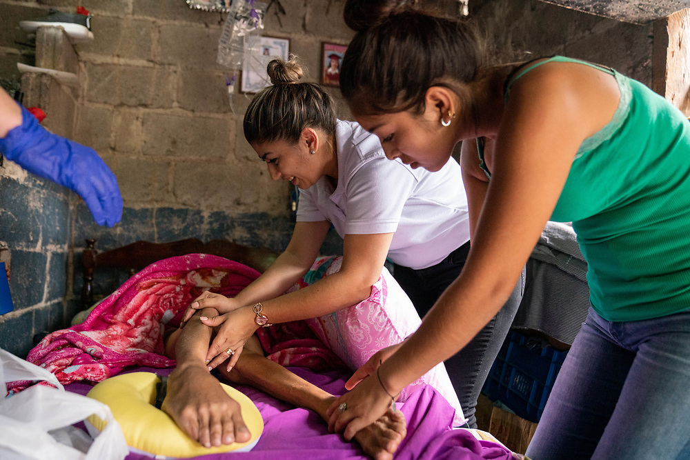 Casa Hogar- Rachel Foltz looks after little 6r old, Jessica who suffers from spina bifida in Santa Rosa de Copan, Copan on Saturday, February 22, 2020. Jessicas mother left her soon after she was born.     Photo by Ken Cedeno