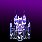 Glowing Fantasy Castle