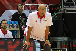 September 17, 2018 - Gdansk, Poland - Drazen Anzulovic Croatian team head coach in action is seen in Gdansk, Poland on 17 September 2018  Poland faces Croatia during the Basketball World Cup China 2019 Qualifiers game in the ERGO Arena sports hall in Gdansk  (Credit Image: © Michal Fludra/NurPhoto/ZUMA Press)