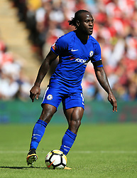"""Chelsea's Victor Moses during the Community Shield at Wembley, London. PRESS ASSOCIATION Photo. Picture date: Sunday August 6, 2017. See PA story SOCCER Community Shield. Photo credit should read: Nigel French/PA Wire. RESTRICTIONS: EDITORIAL USE ONLY No use with unauthorised audio, video, data, fixture lists, club/league logos or """"live"""" services. Online in-match use limited to 75 images, no video emulation. No use in betting, games or single club/league/player publications."""