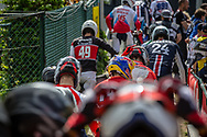 Mens A Batch training session during round 4 of the 2017 UCI BMX  Supercross World Cup in Zolder, Belgium.