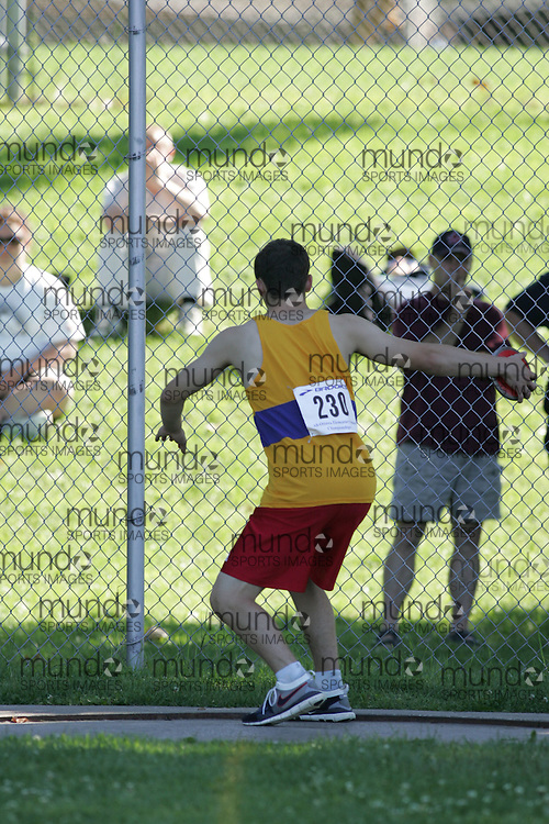 \ competing in the discus at the 2007 Ontario Legion Track and Field Championships. The event was held in Ottawa on July 20 and 21.