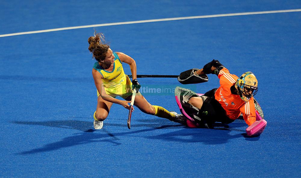 Australia's Brooke Peris scoring the winning goal during penalty shootout