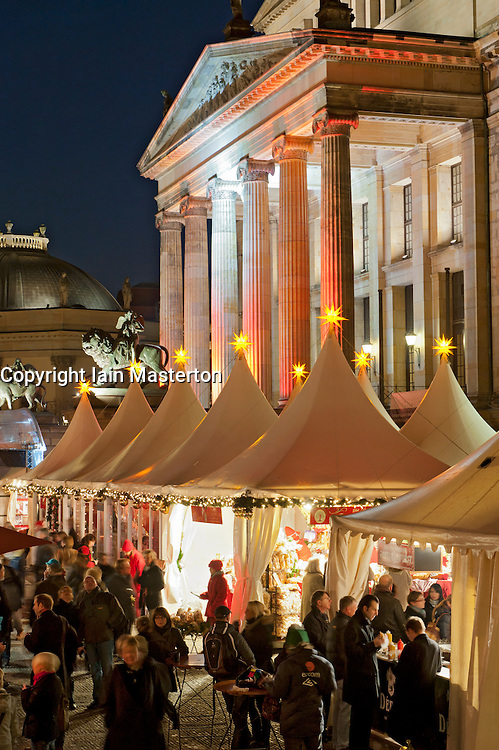 Christmas market at Gendarmenmarkt in Berlin Germany 2011