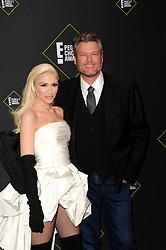 Blake Shelton and Gwen Stefani at the 2019 E! People's Choice Awards held at the Barker Hangar in Santa Monica, USA on November 10, 2019.