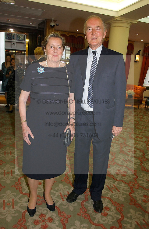 JOSEPH CZERNIN and his wife LADY HOWARD DE WALDEN at a private view of the forthcoming sale 'Property from the collection of HRH The Princess Margaret, Countess of Snowdon' and a private view of art by Marina Karella Princess Michael of Greece, held at Christie's, 8 King Street, London SW1 on 12th June 2006.<br /><br />NON EXCLUSIVE - WORLD RIGHTS