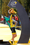 Podium, Geraint Thomas (GBR - Team Sky) yellow Jersey, during the 105th Tour de France 2018, Stage 21, Houilles - Paris Champs-Elysees (115 km) on July 29th, 2018 - Photo Luca Bettini / BettiniPhoto / ProSportsImages / DPPI