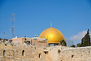 The gilded Dome of the Rock, on Haram esh Sharif (Temple Mount) Israel, Jerusalem Old City