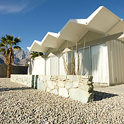 Palm Springs, CA is known for its mid-century modern architecture and examples of it are found throughout the city. Architect Donald Wexler designed seven all-steel Alexander homes, located on the same street in a Palm Springs neighborhood. His designs include the folded-roof method.