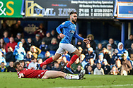 Portsmouth Midfielder, Ben Close (33) scores a goal to make it 1-1 during the EFL Sky Bet League 1 match between Portsmouth and Accrington Stanley at Fratton Park, Portsmouth, England on 4 May 2019.
