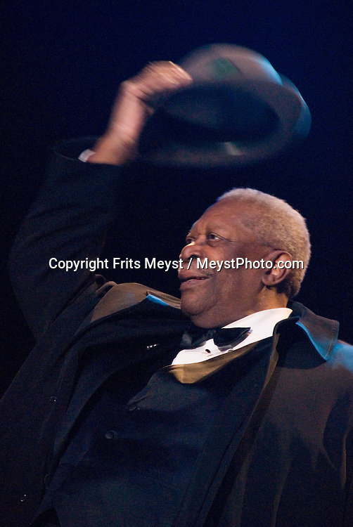 FILE PHOTO: Blues legend BB King dies at age 89, on May 14th 2015. <br /> <br /> Rotterdam, Netherlands, July 7th 2009. King of the BLues, Grammy award winning Blues artist BB King performs live at the North Sea Jazz Festival 2009. Photo by Frits Meyst / MeystPhoto.com