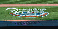 "The ""Opening Series"" logo on the field during Opening Day 2013 before a game between the Minnesota Twins and Detroit Tigers on April 1, 2013 at Target Field in Minneapolis, Minnesota.  The Tigers defeated the Twins 4 to 2.  Photo: Ben Krause"