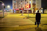 Bialystok, 23.03.2020. Pustki na ulicach Bialegostku podczas epidemii koronawirusa N/z pusta ulica Wyszynskiego wieczorem fot Michal Kosc / AGENCJA WSCHOD