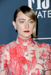 Saoirse Ronan at the 25th Annual Critics' Choice Awards held at the Barker Hangar in Santa Monica, USA on January 12, 2020.