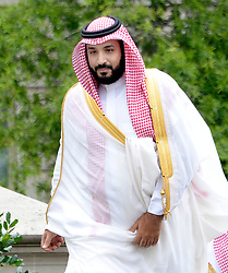 File photo - Deputy Crown Prince and Minister of Defense Mohammed bin Salman of Saudi Arabia arrives at the White House to attend a meeting with President Barack Obama June 17, 2016 in Washington, DC, USA. A new Saudi anti-corruption body has detained 11 princes, four sitting ministers and dozens of former ministers, media reports say. The detentions came hours after the new committee, headed by Crown Prince Mohammed bin Salman, was formed by royal decree. Photo by Olivier Douliery/ABACAPRESS.COM  | 551491_004 Washington Etats-Unis United States