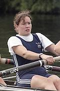 "Henley on Thames. Henley. GREAT BRITAIN;  <br /> Gillian LINDSAY<br /> 1995 Women's Henley Regatta. Henley Reach. River Thames.<br /> <br /> [Mandatory Credit; ""Photo, Peter Spurrier/Intersport-images]"