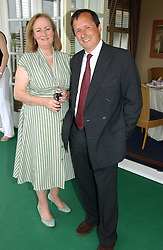 LADY CELESTRIA NOEL and CHARLES STISTED at the Queen's Cup polo final sponsored by Cartier at Guards Polo Club, Smith's Lawn, Windsor Great Park on 18th June 2006.  The Final was between Dubai and the Broncos polo teams with Dubai winning.<br /><br />NON EXCLUSIVE - WORLD RIGHTS