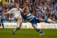Photo: Alan Crowhurst.<br />Reading v Leeds Utd. Coca Cola Championship.<br />29/10/2005. Reading's Kevin Doyle strikes at goal.