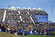 during the Saturday Fourballs at the Ryder Cup, Le Golf National, Paris, France. 29/09/2018.<br /> Picture Phil Inglis / Golffile.ie<br /> <br /> All photo usage must carry mandatory copyright credit (© Golffile | Phil Inglis)