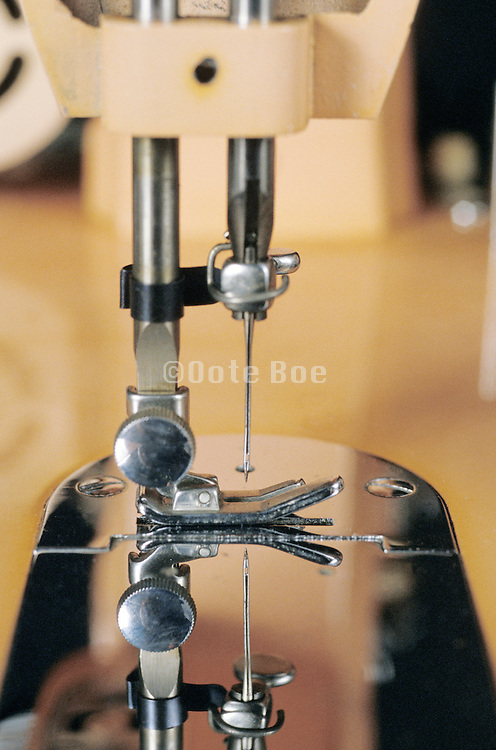 close up of a sewing machine