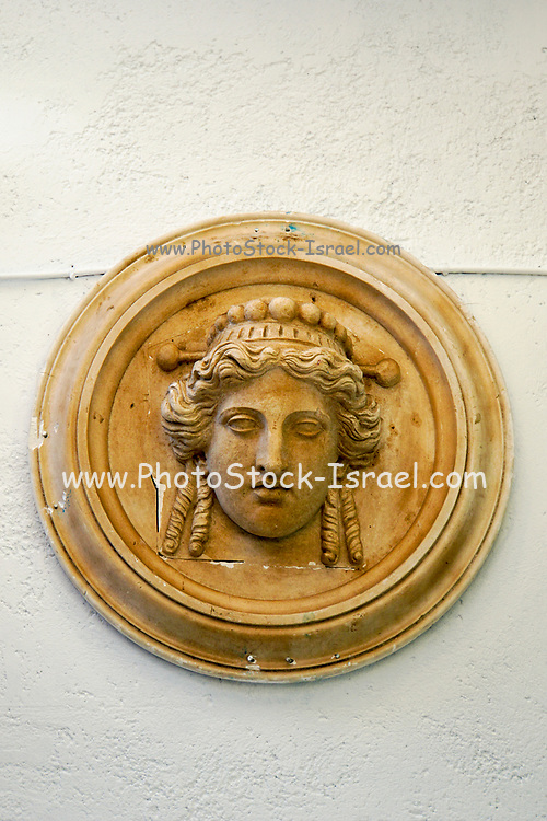Classic portrait bas relief Photographed in Athens