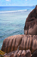 anse source d'argent beach in la digue in seychelles island