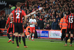3 December 2017 -  Premier League - Bournemouth v Southampton - Ryan Bertrand of Southampton winks and taps his wrist after a poor throw in goes straight out of play, indicating a purposeful attempt to wast time  - Photo: Marc Atkins/Offside