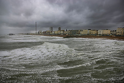 © Licensed to London News Pictures. 30/07/2021. Brighton, UK. Stormy and windy conditions at Brighton, East Sussex. Parts of the south are feeling the effects of Storm Evert, the first named storm of summer 2021. Photo credit: Peter Macdiarmid/LNP