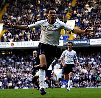 Copyright Sportsbeat. 0208 3926656<br />Picture: Henry Browne<br />Date: 05/04/2003<br />Tottenham Hotspur v Birmingham City FA Barclaycard Premiership<br />Gustavo Poyet celebrates scoring the winner for Spurs