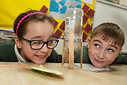 12/11/2018 Repro free: Galway Science and Technology Festival, the largest science event in Ireland, runs from 11-25 November featuring exciting talks, workshops and special events. Full programme at GalwayScience.ie. <br /> Sara Muhametay and Jake O'Fathartha from Scoil Fhursa who learned all about rockets and force and wind power . Photo:Andrew Downes, Xposure.
