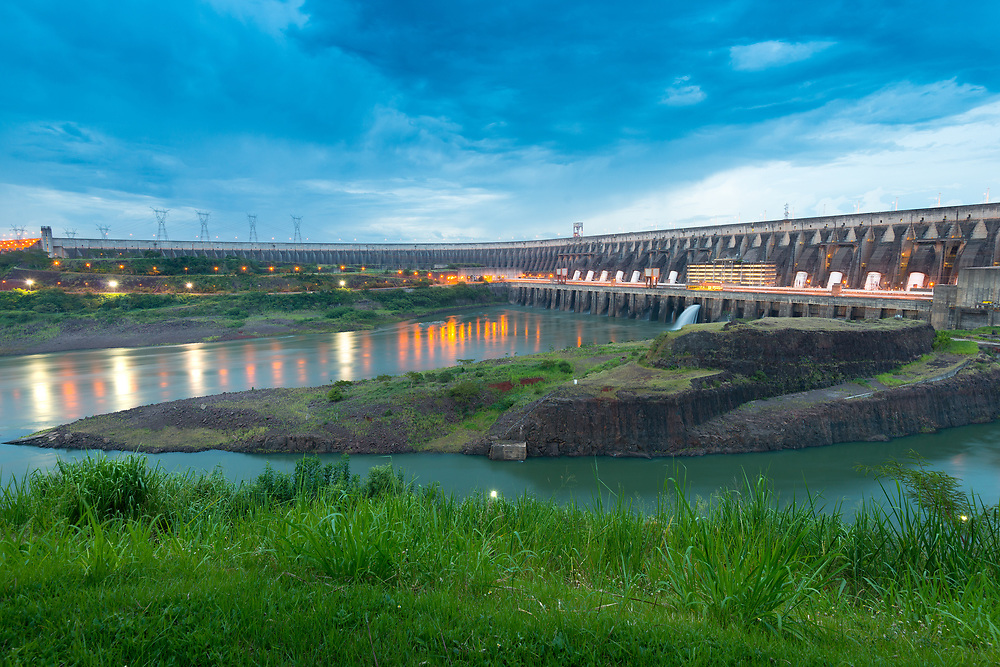Itaipu Hydroelectric Dam on the Parana River.